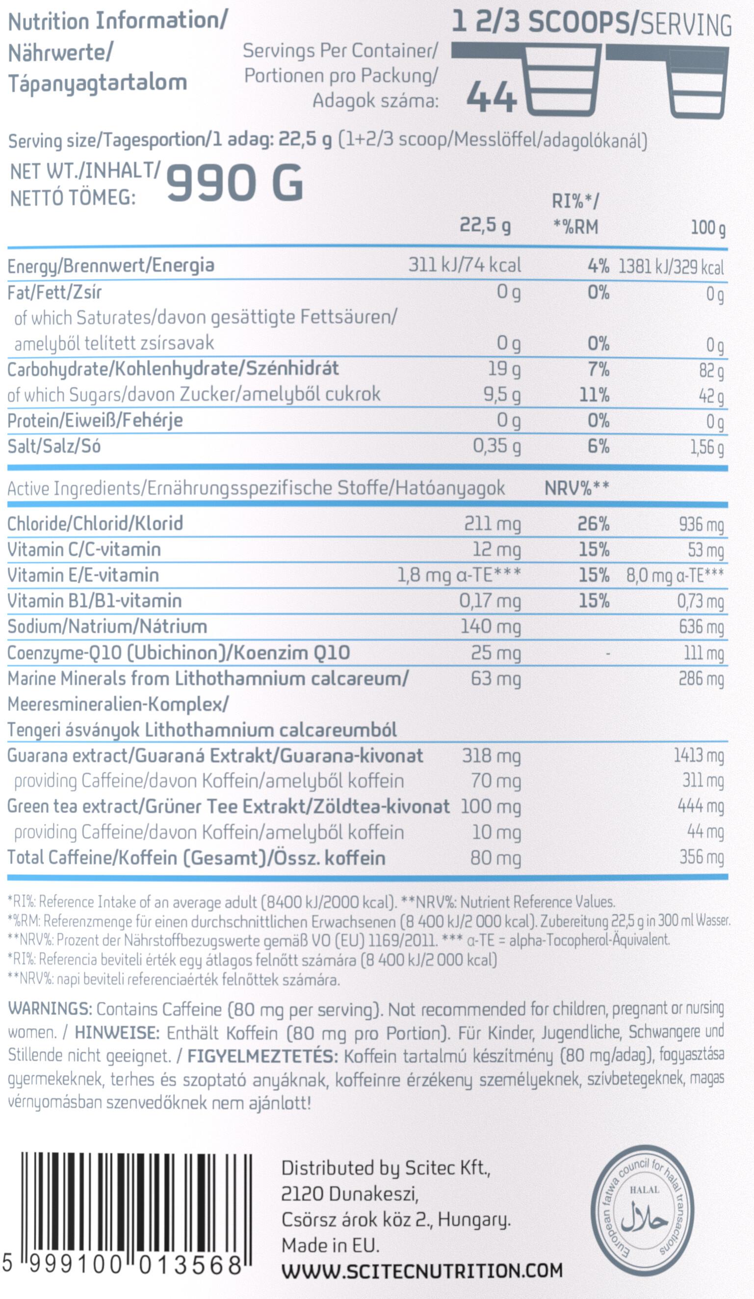SCITEC Isohydro + Koffein Powder 990g Orange
